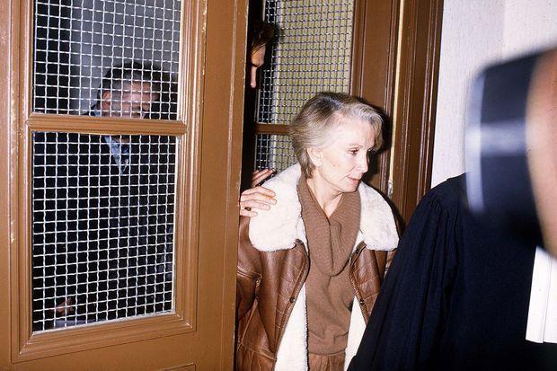 Madame Claude, lors de son procès à Cahors, en janvier 1986.