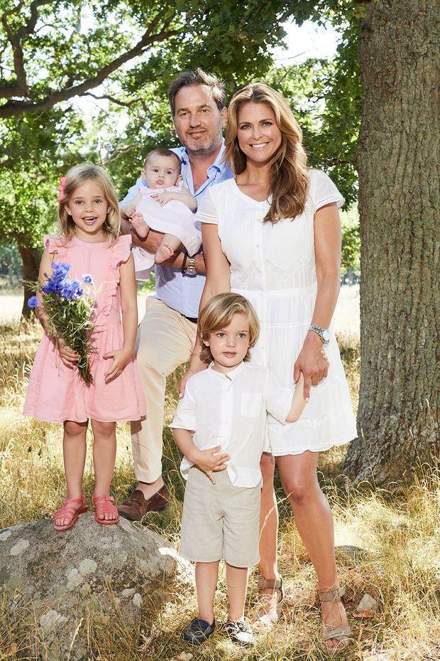 La princesse Madeleine de Suède et sa famille à Solliden à l'été 2018