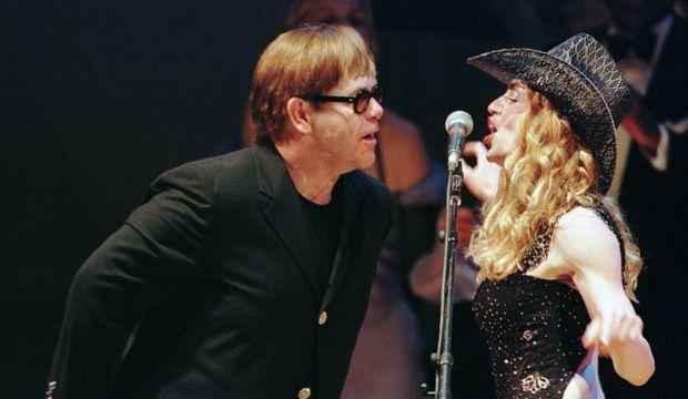 Madonna Elton John 1998-