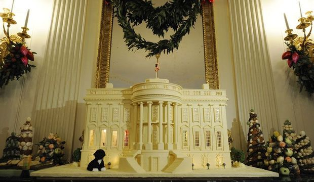 Maison Blanche en chocolat blanc-