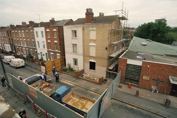"""La """"maison de l'horreur"""", 25 Cromwell Street, à Gloucester."""