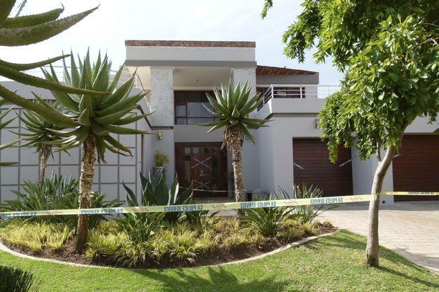 La maison de Pretoria où s'est passé le crime.