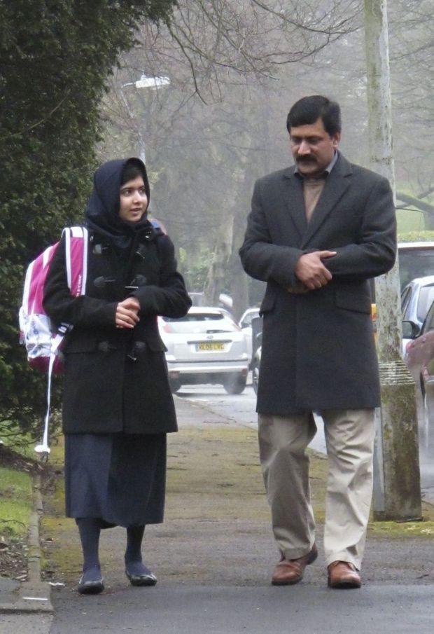 Malala Yousufzai et son père