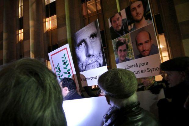 Le 29 janvier dernier, à Paris, une manifestation de soutien aux otages en Syrie était organisée.