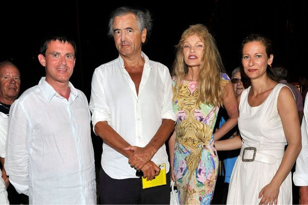 Le couple Valls avec BHL et Arielle Dombasle, après le concert.
