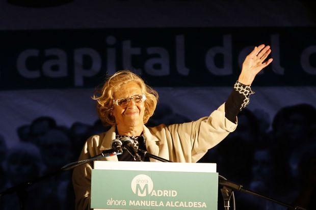 Manuela Carmena, future maire de Madrid?