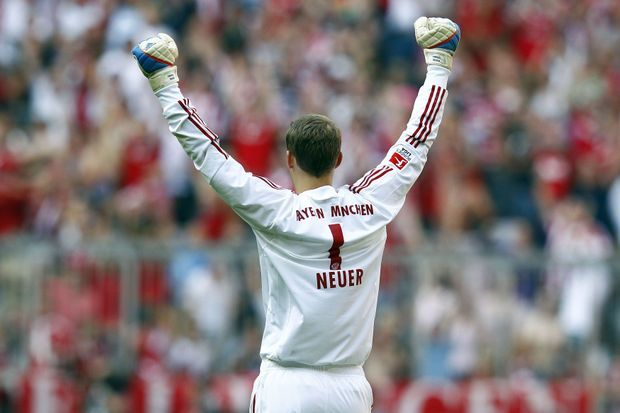 Manuel Neuer avec le Bayern Munich, en 2011.