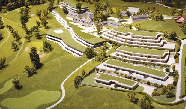 Le Golf Resort La Gruyère comprendra un hôtel de 80 chambres et suites, trois restaurants dont un gastronomique, un centre de bien-être de 2500 m2, 20 à 30 résidences hôtelières, 105 appartements de 2 à 5 pièces, et un golf 18 trous.