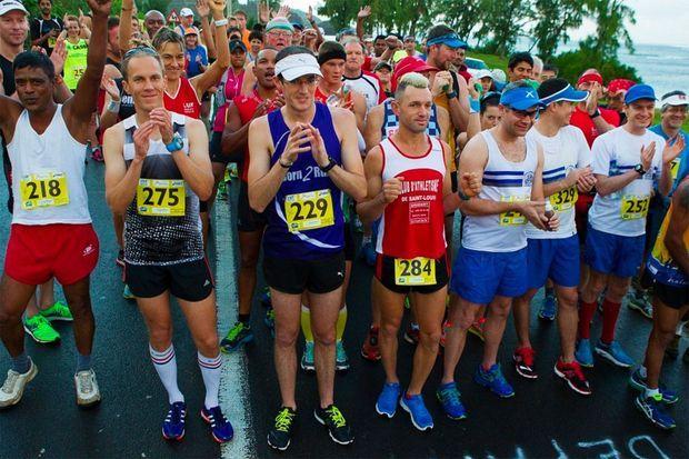 Au départ du marathon de Maurice 2015
