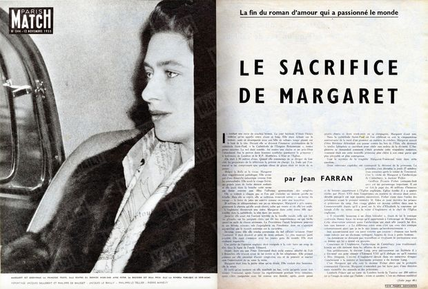 """""""Margaret is once again the sad princess.  She came home from the last weekend with Peter.  His decision has already been made.  She will make it public the same evening.  """"- Paris Match n ° 344, November 12, 1955"""