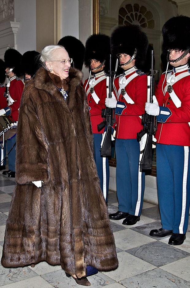 La reine Margrethe II de Danemark à Copenhague, le 4 janvier 2018