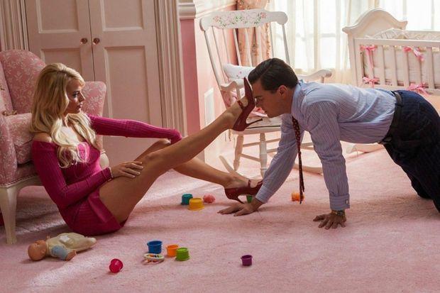 """Margot Robbie et Leonardo DiCaprio dans """"Le Loup de Wall Street"""""""