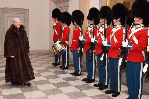 La reine Margrethe II de Danemark à Copenhague, le 4 janvier 2017