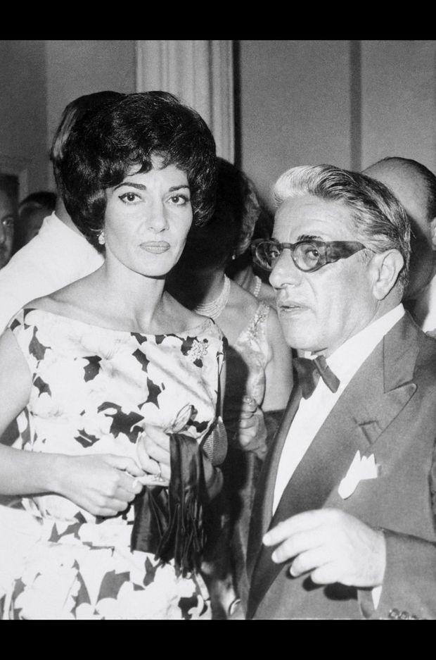 Maria Callas et Aristote Onassis. Monaco 1960