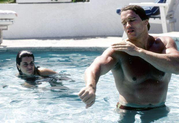 Maria Shriver et Arnold Schwarzenegger en mai 1979.
