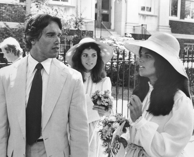 Arnold Schwarzenegger et Maria Shriver en juin 1980.