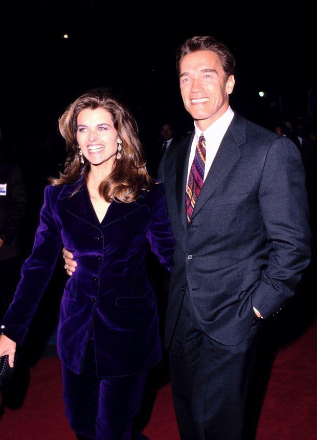 Maria Shriver et Arnold Schwarzenegger en novembre 1994.