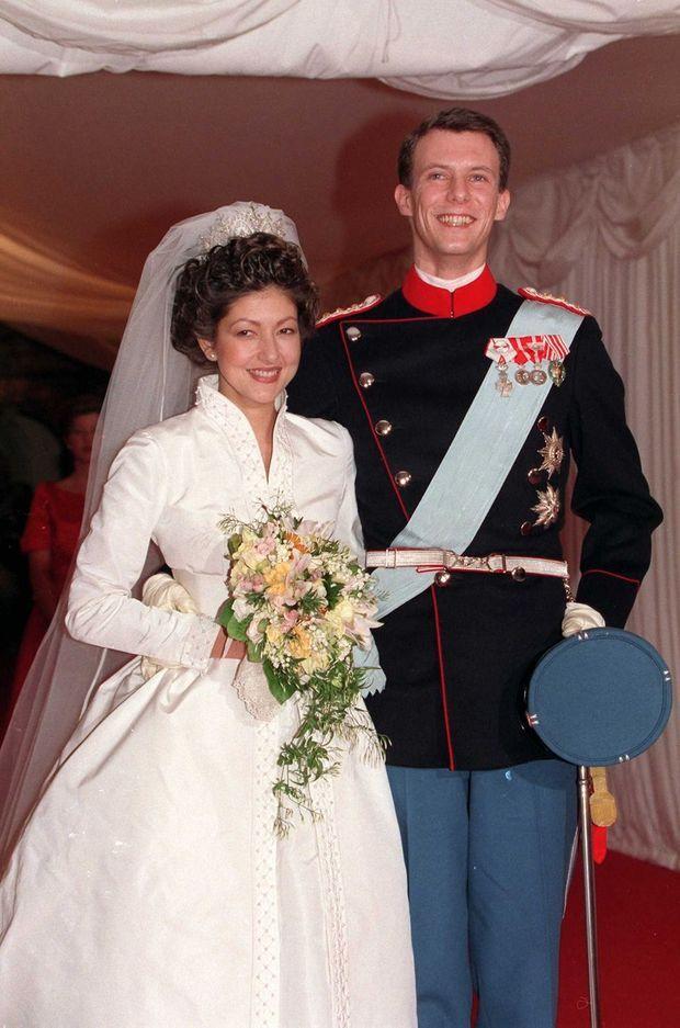 Le prince Joachim de Danemark et Alexandra Manley le jour de leur mariage
