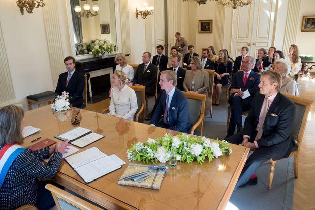 Mariage civil de la princesse Marie-Gabrielle de Nassau et Antonius Willms à Luxembourg, le 15 mai 2017