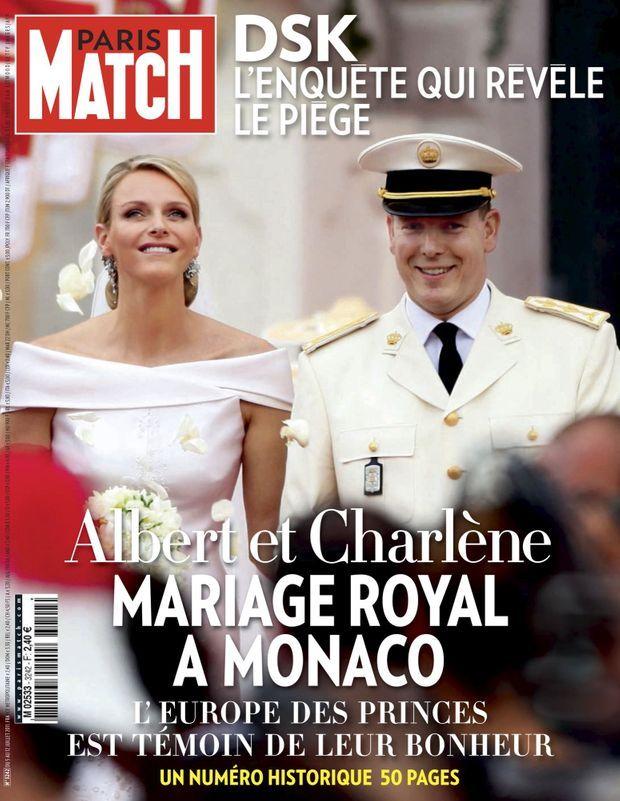 Mariage royal à Monaco, en couverture de Paris Match n°3242, 4 juillet 2011