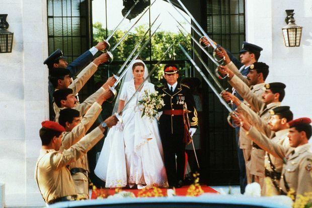 Le mariage de Rania et du prince Abdallah de Jordanie à Amman, le 10 juin 1993