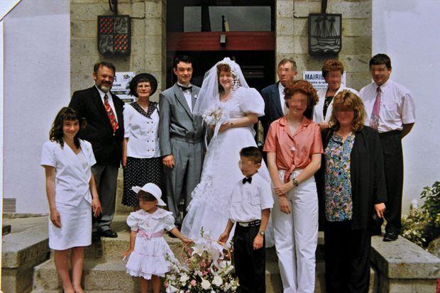 Le mariage de Pascal Troadec et Brigitte, à Landerneau, en 1993. A gauche, les parents du marié, Pierre et Renée,