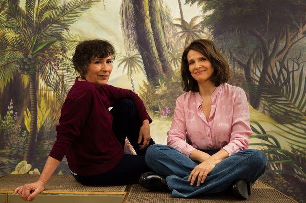 Marie-Monique Robin et Juliette Binoche intervieweront des scientifiques pour le documentaire de l'écrivaine. Ici dans le showroom Ananbô à Paris.