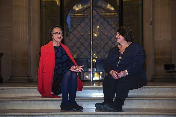 Marielle Pic, directrice du département des Antiquités orientales du Louvre (à g.), et Yannick Lintz, directrice de celui des Arts de l'Islam. Elles savent déceler les copies.