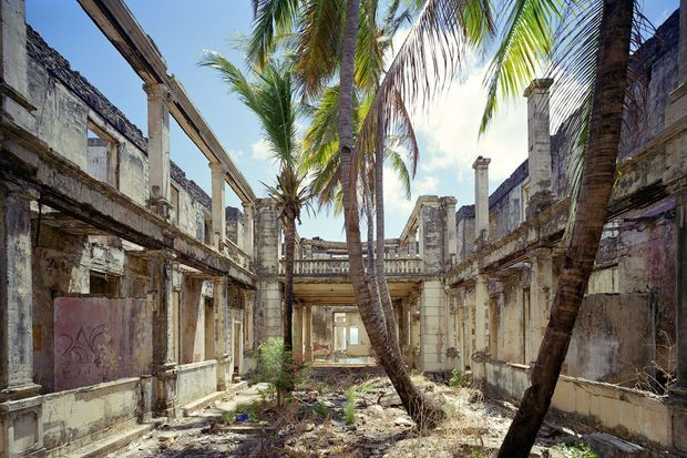 Hotel de la marine, patio, Diego Suarez, Madagascar