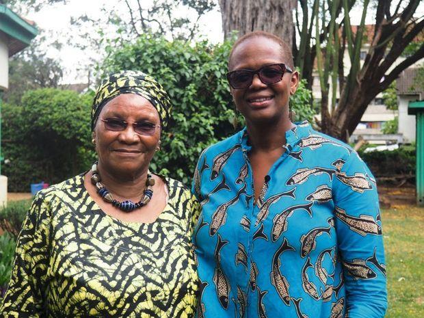 Marion Kamau (à g.), compagne de lutte de Wangari Maathai
