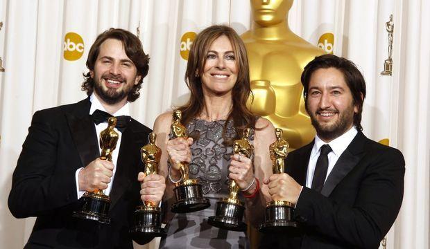 Mark Boal, Kathryn Bigelow et Greg Shapiro-