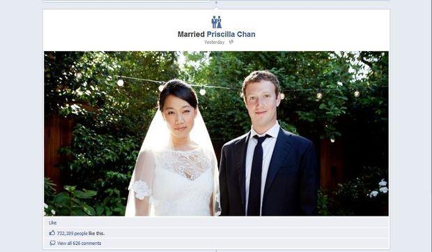 mark zuckerberg mariage-