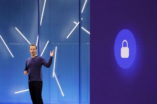 Mark Zuckerberg lors de la conférence F8 à San Jose, en Californie, le 1er mai 2018.
