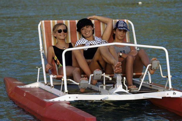 Marlène, Joy et EVa en vacances aux Antilles en 1993.