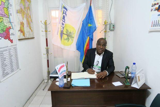 Le député Martin Fayulu dans son QG à Kinshasa, le 20 juin 2018