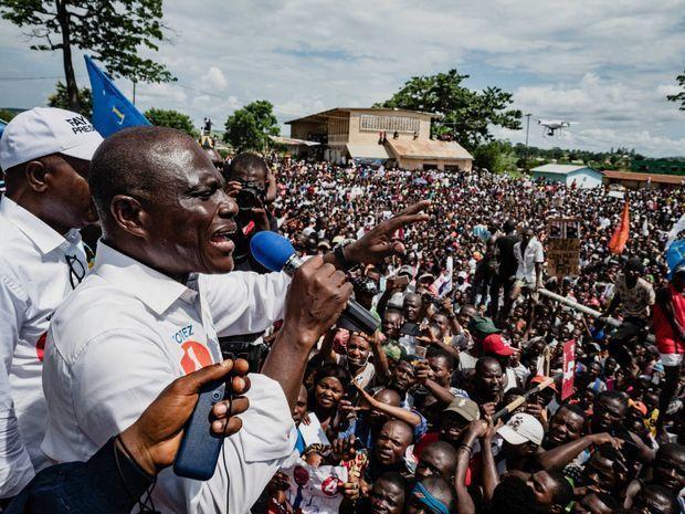 Martin Fayulu, le 6 décembre 2018 à Bome en RDC