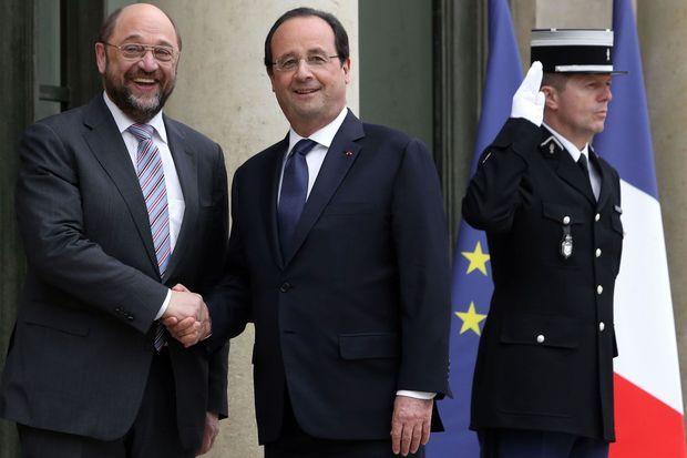 Le 4 avril dernier, Martin Schulz rencontre François Hollande à l'Elysée.