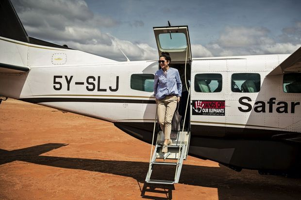 Mary de Danemark atterrit dans le district de Samburu,