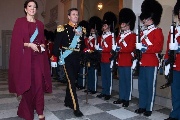 La princesse Mary et le prince Frederik de Danemark à Copenhague, le 4 janvier 2017