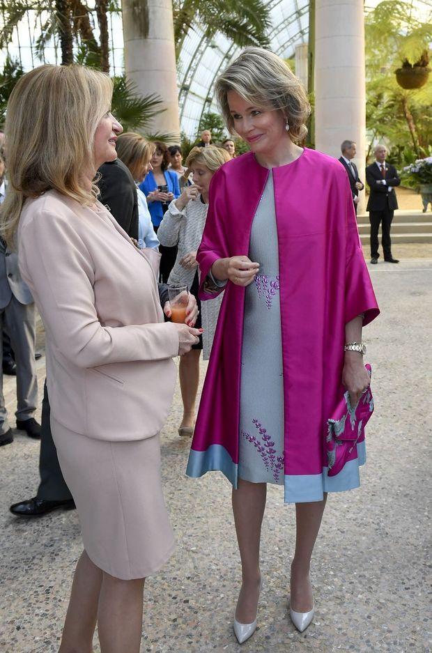 La reine Mathilde de Belgique à Bruxelles le 20 avril 2017