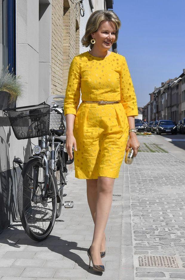 La reine Mathilde de Belgique à Gand, le 1er juin 2017