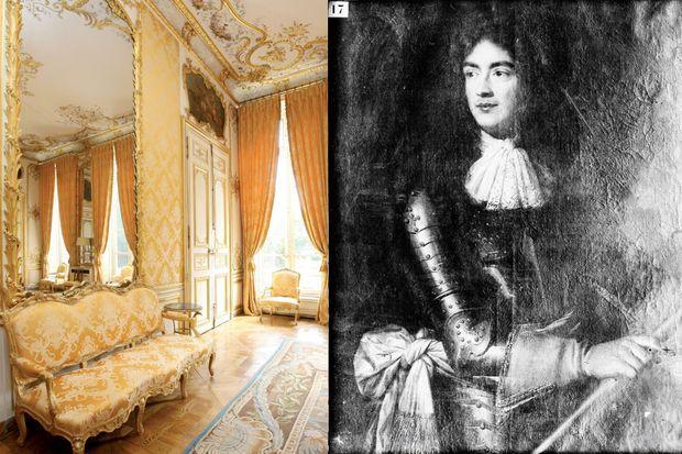 Le Salon jaune de l'hôtel de Matignon à Paris - Portrait de Jacques de Goyon-Matignon