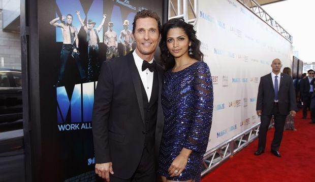 Matthew McConaughey et sa femme Camila Alves -