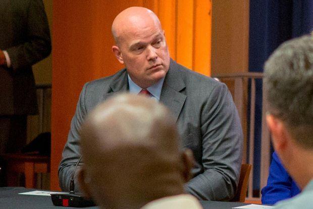 Matthew Whitaker, l'actuel ministre de la Justice par intérim.