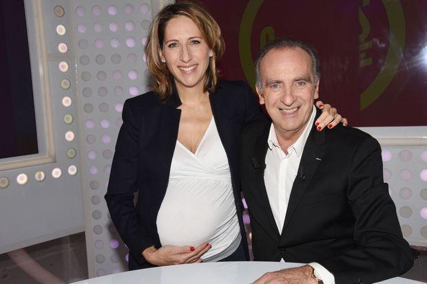 Maud Fontenoy et Yves Lecoq lors de l'enregistrement des Grands du Rire le 5 avril.