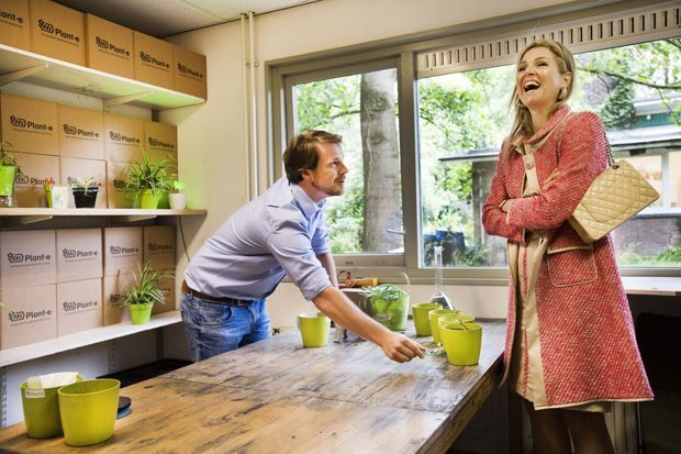 La reine Maxima des Pays-Bas à Wageningen, le 7 juin 2017