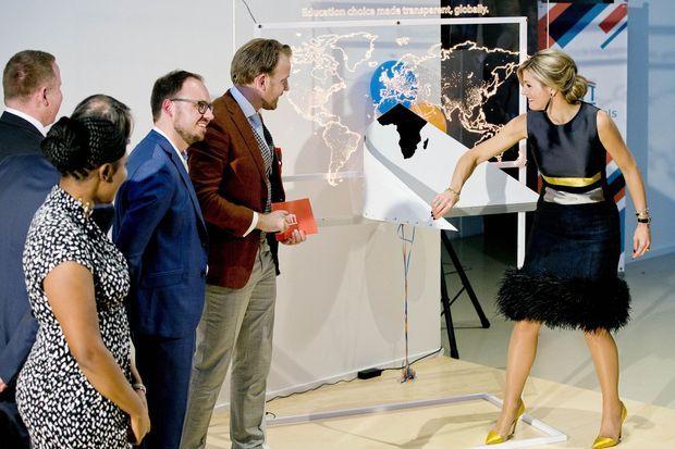 La reine Maxima des Pays-Bas à Eindhoven, le 7 avril 2017