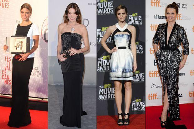 Léa Seydoux, Carla Bruni, Emma Watson et Juliette Binoche, toutes en Maxime Simoëns.