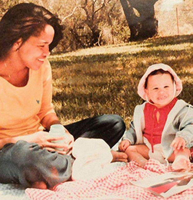 Meghan avec sa mère, Doria, à Los Angeles.