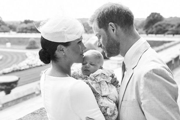 Meghan, Harry et leur fils Archie.